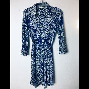Cabi Dress Blue Jewel Shirtdress style#422 small
